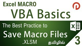 Excel VBA Basics   How to safely Save a Developed Macro File   XLSM