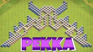 "PEKKA TROLL BASE!!! ""Clash Of Clans"" 6th ANNIVERSARY!!"
