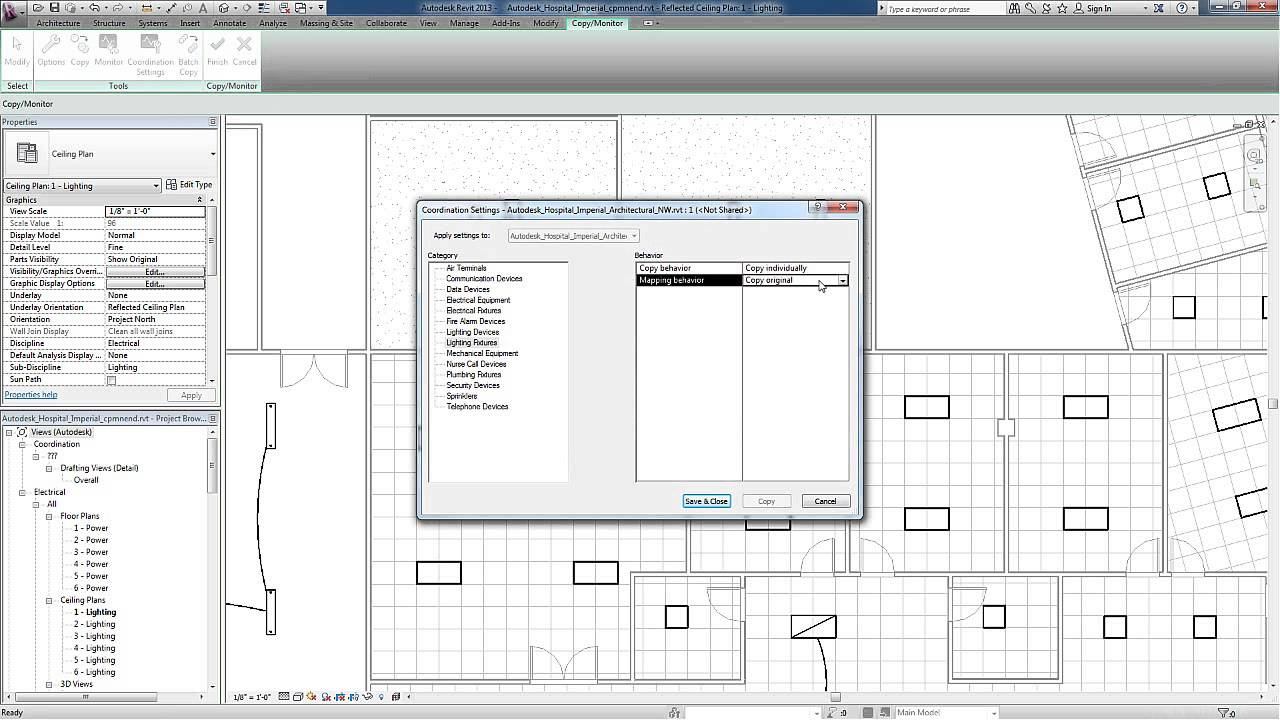 Revit for MEP - Electrical Lighting Systems - Copy Monitor - YouTube