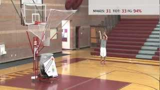 Basketball Shooting Machine - The Gun - Jon Diebler on the 8000 Series Gun
