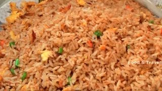 Indo-chinese Egg Fried Rice |  Street Food Fast Food In India