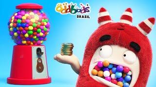 NOVO! Desenho | Oddbods | BOLA DE CHICLETE | Desenho Animado Divertido Para Crianças