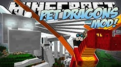 Minecraft | PET DRAGONS MOD! (Tame, Mount & Fly Your Own Dragon!) | Mod Showcase