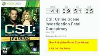 CSI: Fatal Conspiracy Xbox 360 Countdown