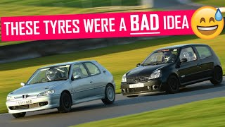 Unintentional FWD drifting at Donington. Is the 306 any faster now with cams?!