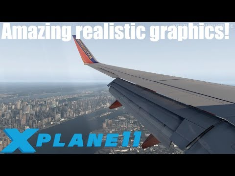 X-Plane 11 Realistic 737-800 Landing l Photoreal Scenery By