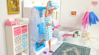 Barbie doll Shower Time! Waktu mandi boneka Barbie! Barbie boneca Tempo de banho