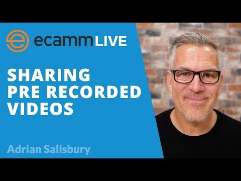 Ecamm Live: How To Share A Pre Recorded Video