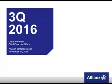 Allianz Group Analysts' Conference Call on Third Quarter 2016