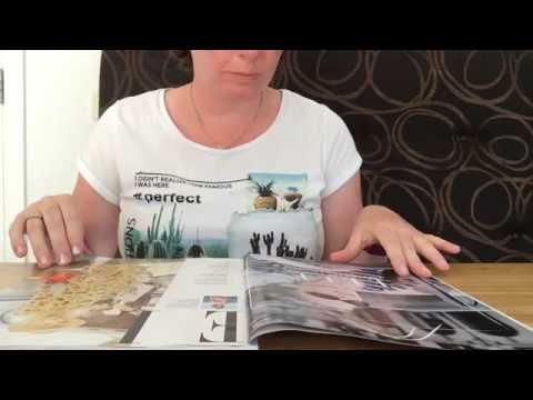 ASMR page turning magazine with Dutch whispering