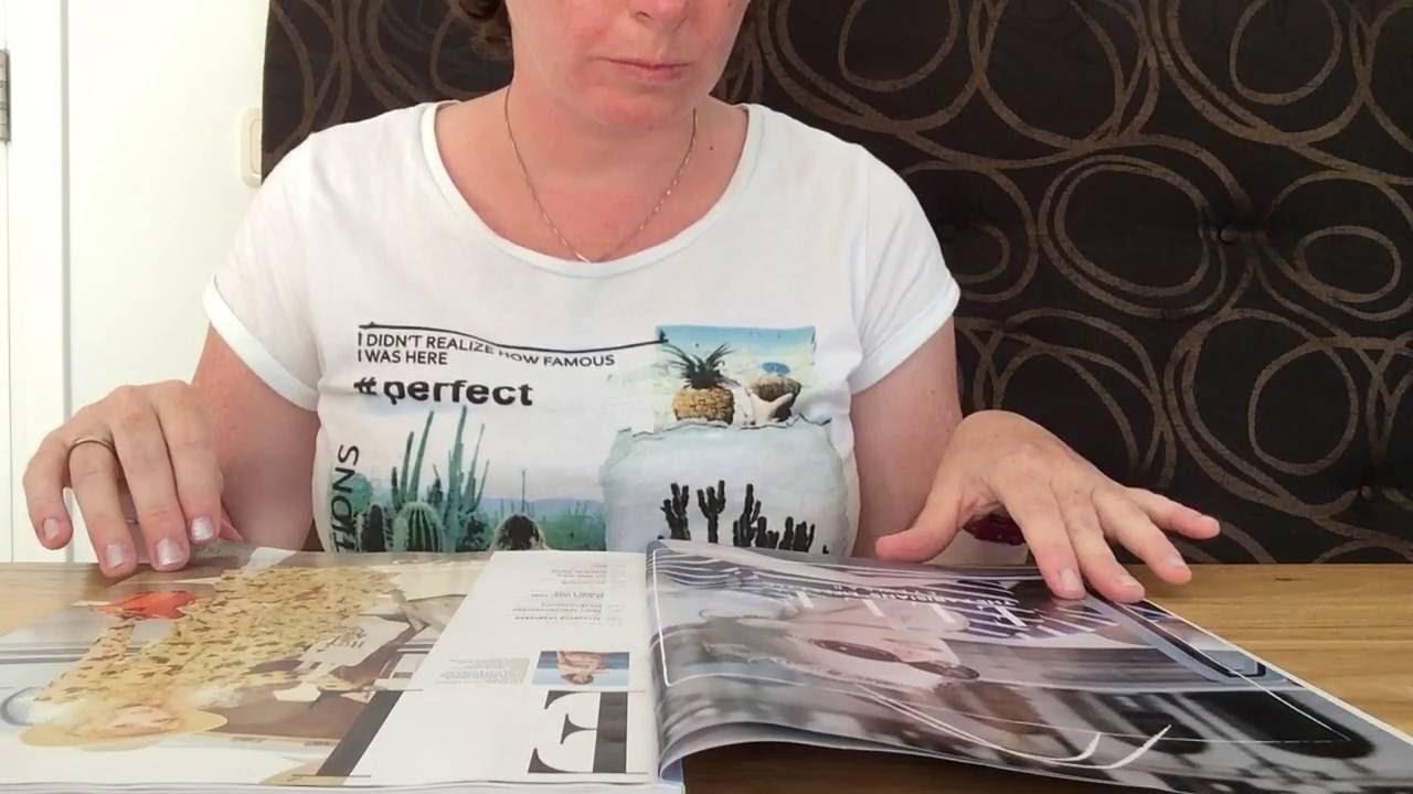 ASMR page turning magazine with Dutch whispering