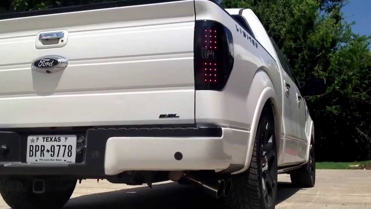 2011 f150 limited lariat borla exhaust - YouTube