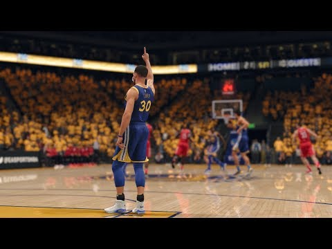 NBA Live 18: Rockets vs Warriors - 4th Qtr | Vintage Curry (Game 2)