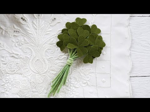 How to Make a Paper Shamrock Corsage for St. Patrick's Day - DIY Craft Project