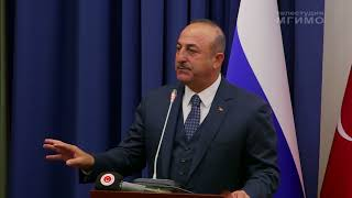(рус)  Глава МИД Турции М.Чавушоглу в МГИМО