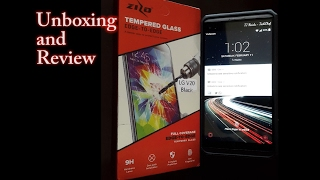 zizo tempered glass for the lg v20 unboxing install and review