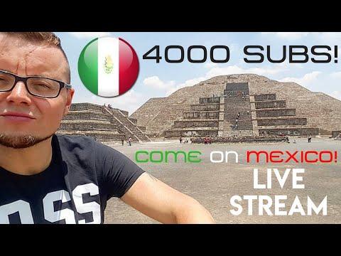 4000 SUBSCRIBERS Live Stream! Hello Mexico City!