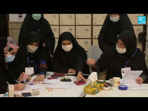 Inside a polling station in Tehran - Iran Presidential Elections