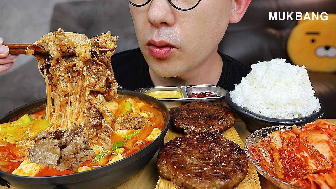 한국인의 밥상! 냄비밥🍚에 용암차돌듬뿍된장국수🥘와 수제떡갈비 한식 먹방은 못참치! Doenjang jjigae MUKBANG