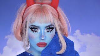 halloween melting face makeup tutorial