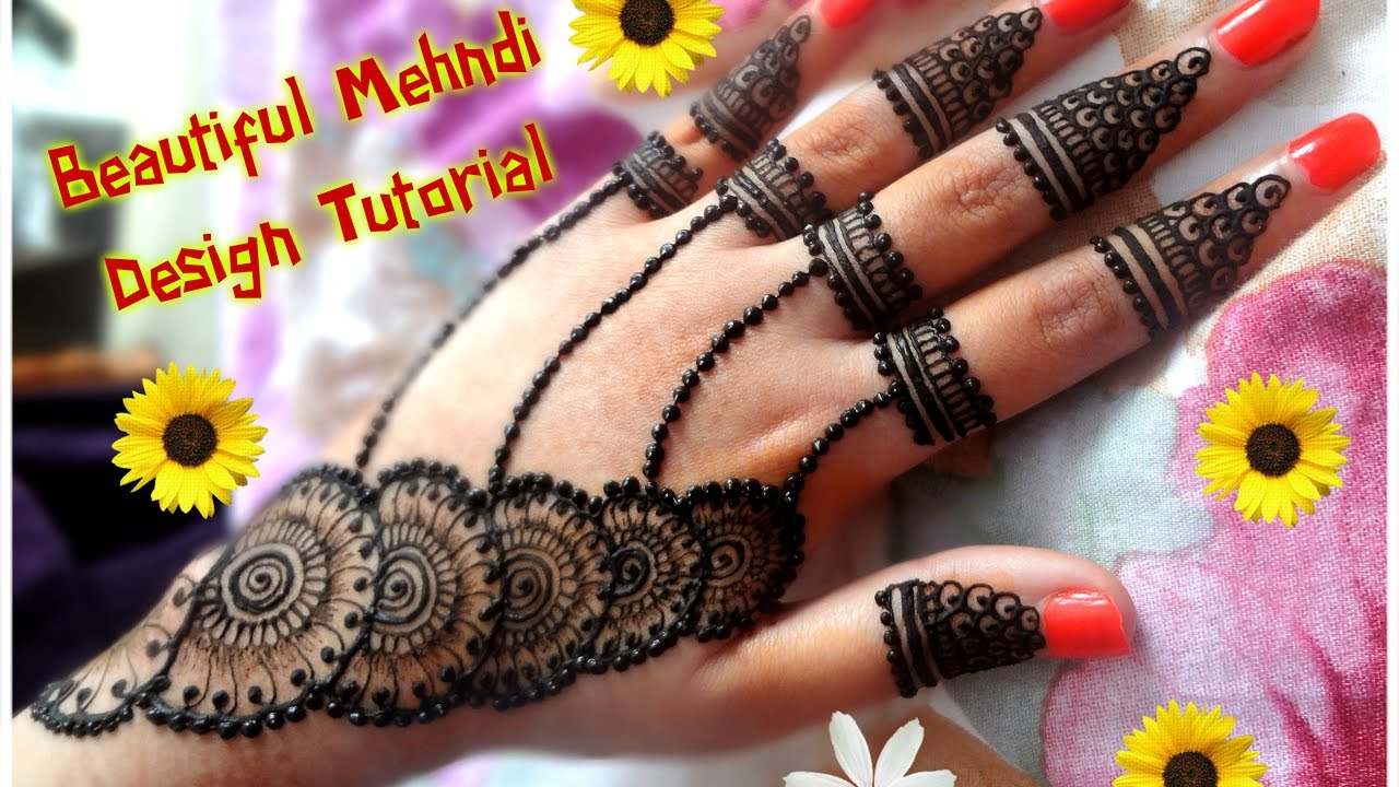 Mehndi design 2017 eid - How To Apply New Latest Henna Mehndi Designs For Hands For Eid Diwali Weddings Tutorial 2017