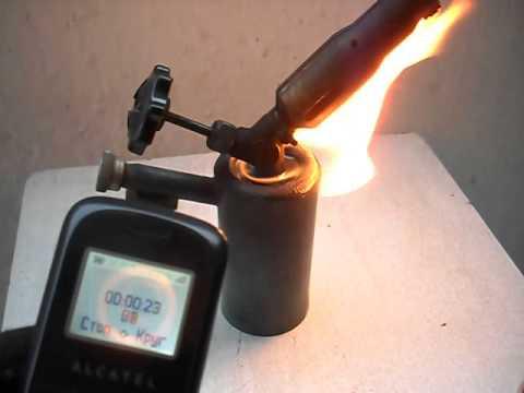Газовая паяльная лампа 1 - YouTube