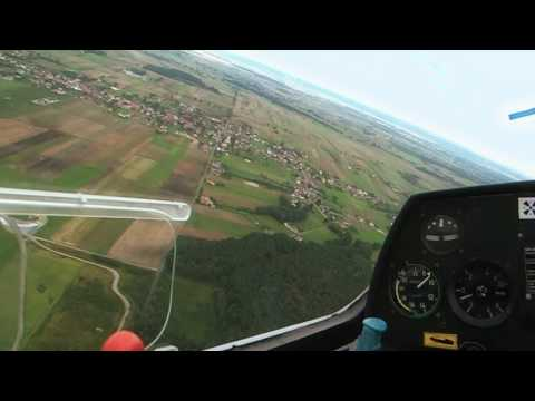"""Glider flight FPV """"PUCHACZ"""", EPOP airport"""