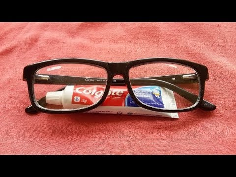 Clean your Glasses Lens with Colgate: Easy Method