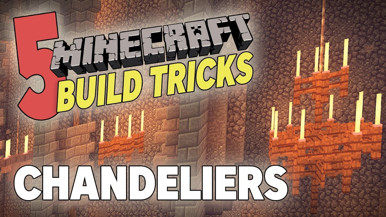 5 Minecraft Build Tricks Chandeliers, How Do You Make A Chandelier In Minecraft