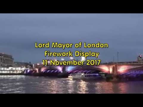 Lord Mayors Fireworks London 11Nov2017
