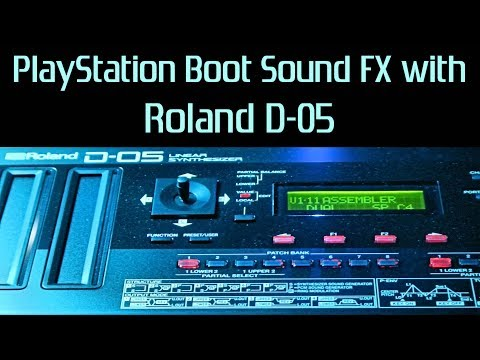 Sony Playstation (PS one) Boot Sound Mockup on Roland Boutique D-05 Linear Synthesizer | Sound FX