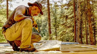 How Big is My Off-grid Log Cabin? What's Next? Venison Jerky Soup and Waxing My Hand Saw