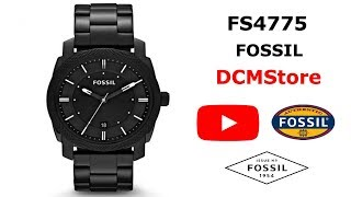 FS4775 Fossil Machine Black Military ...... DCMStore