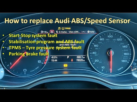 How To Replace Speed/ABS Sensor on Audi A7 4G & Audi A6 C7
