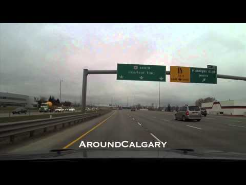 HD Driving Calgary NW to SE and more