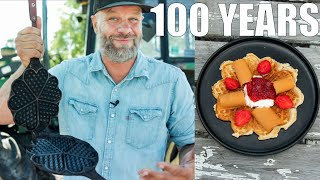 Can This 100 Year Old Waffle Iron Make A Decent Waffle!?