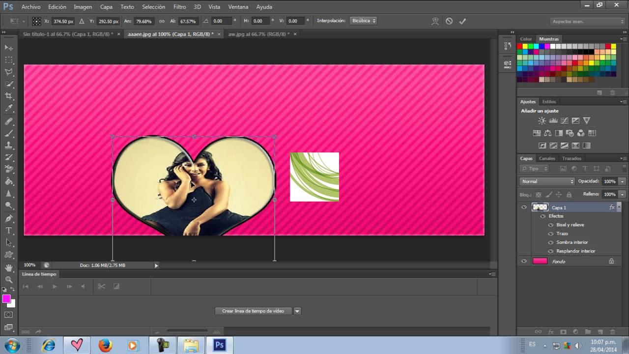 Como poner una imagen dentro de un corazon - YouTube