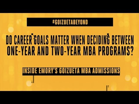 career goals mba