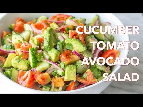 Salads: Cucumber Tomato Avocado Salad Recipe - Natasha's Kitchen