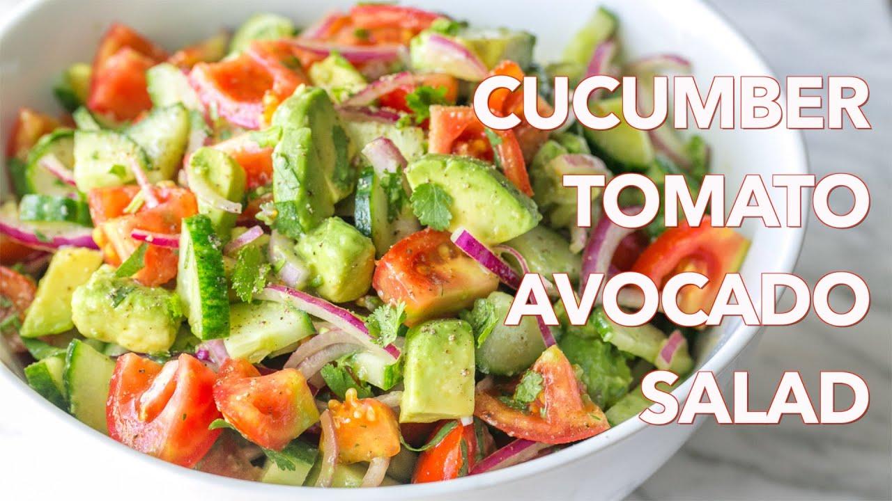 Salads Cucumber Tomato Avocado Salad Recipe Natashas Kitchen
