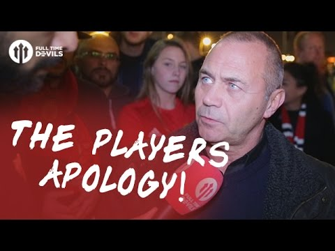 The Players Apology!   Manchester United 1-0 Manchester City   FANCAM