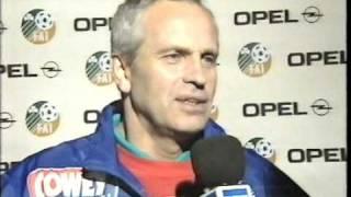 Tommy Troelsen og Morten Olsen analyserer Danmarks 1-1 kamp mod Irland i 1993