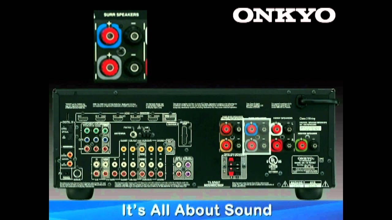 ONKYO HowTo Series: Hook Up 51 or 71 Speaker Configuration  YouTube