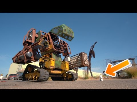 Real Life Giant Robot vs $80 Toy Robot (Megabots)