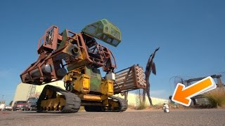 Real Life Giant Robot vs $80 Toy Robot (Megabots)