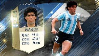Fifa 18 Prime Icon Maradona Review - 97 Icon Diego Maradona Player Review - Fifa