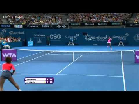 Williams vs Stephens - WTA Brisbane 2013