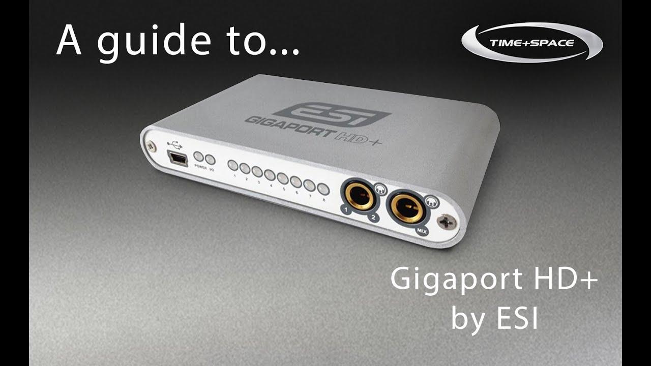 NEW DRIVERS: ESI GIGAPORT HD AUDIO INTERFACE