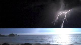 Dry Lightning, California Coast, August 19, 2013