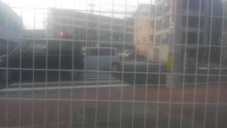 長崎県警察佐世保署パトカー、パトロール中。